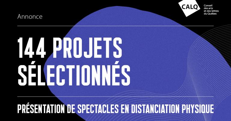 Affiche prix CALQ Présentation Spectacles Distanciation physique